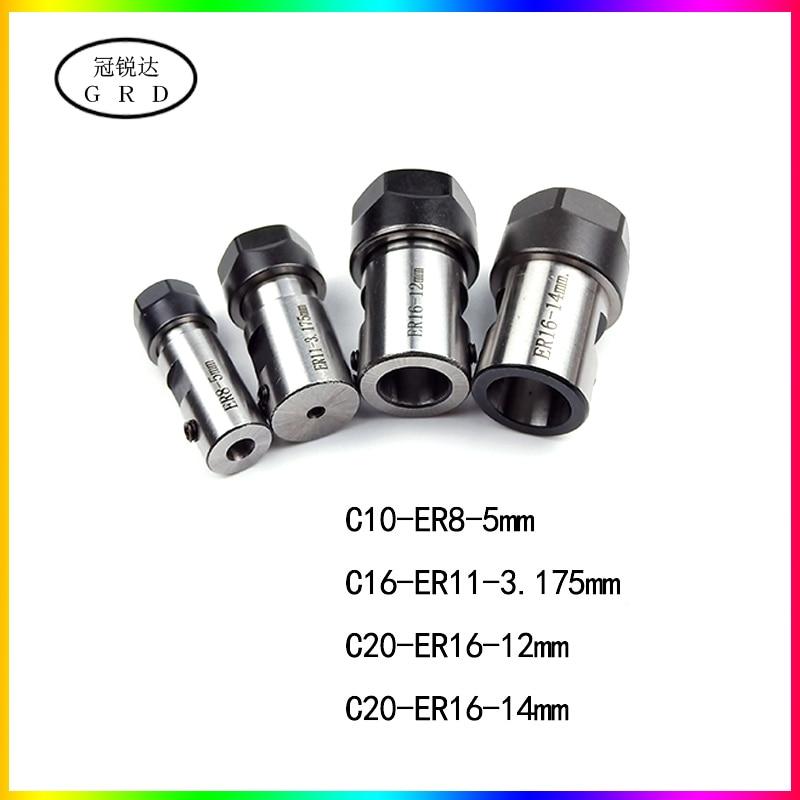 ER8 ER11 ER16 ER20 Motor Shaft Tool Holder C10 C16 C20 C25 Er8a Er11a Er16a Er16m Er20a Er20m 3.175mm 4mm 5mm 12mm 14mm 18mm Rod