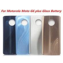 5PCS for Motorola Moto G6 Plus XT1926-7 XT1926-6 For Motorola Moto G6 Glass Battery Door Case Back Cover Replacement with LOGO