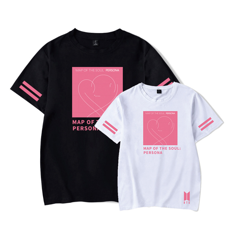 Kpop Bangtan Boys T-shirt Soft Cotton New Album Map Of The Soul Persona Short Sleeve Fashion Bangtan Boys Summer T-shirt Kpop