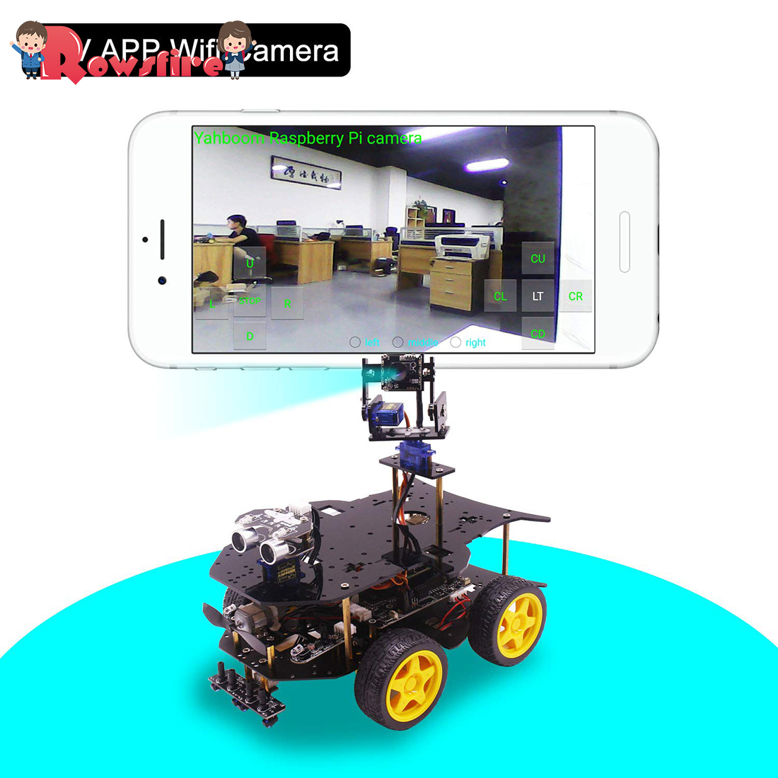 Bluetooth Ultimate Starter Kit Programmable Smart Robot Car With Camera 4WD Electronics Education DIY Stem Toy With Raspberry 4B