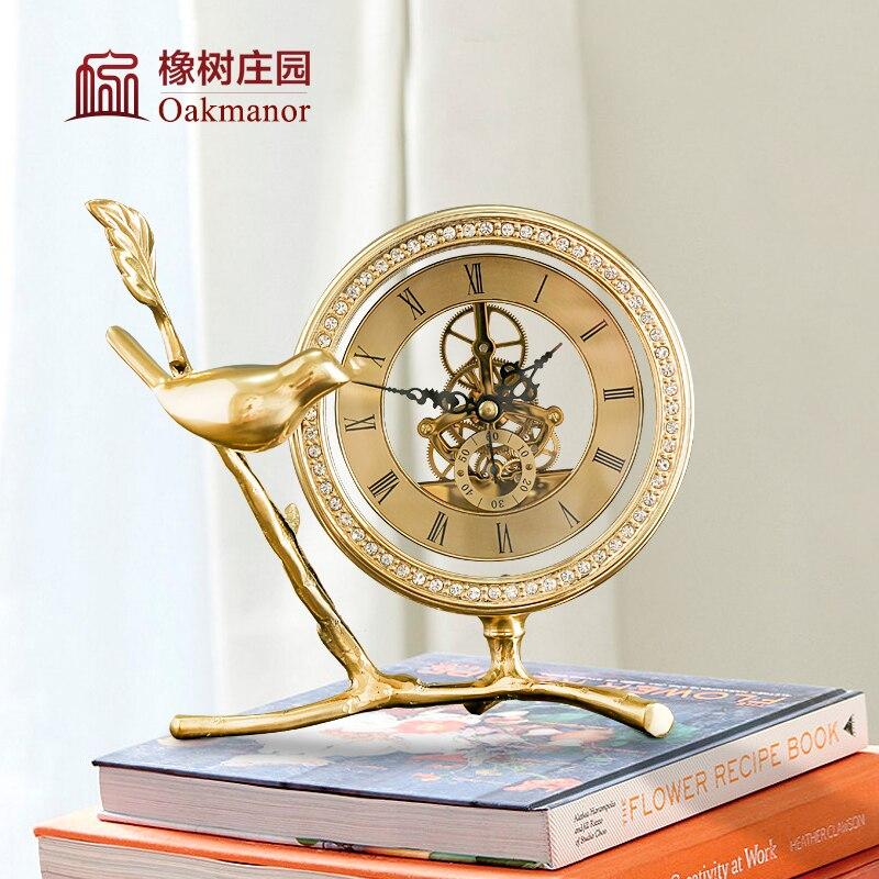 Métal numérique réveil or lit luxe grande voix réveil Design moderne Silence Relojes De Madera décor à la maison OO50AC - 2