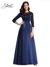 Новое Элегантное женское вечернее платье темно синего цвета