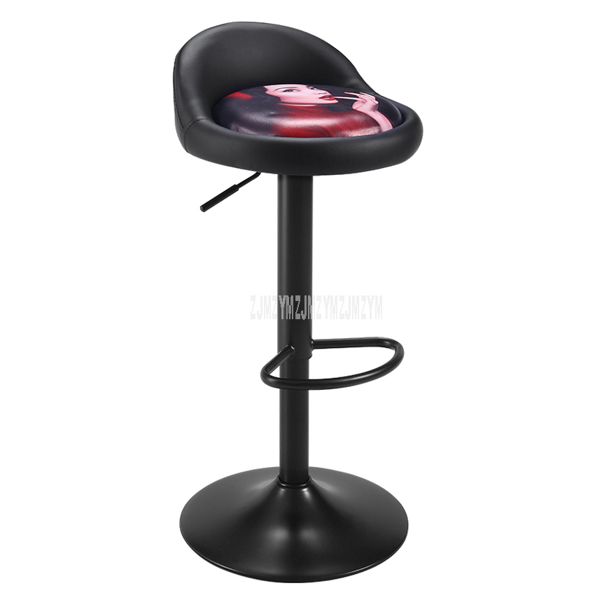 Modern Style Low Leg/High Leg Bar Chair Height Adjustable Swivel Bar Steel Leg Soft Cushion High Footstool Rotatable Bar Chair