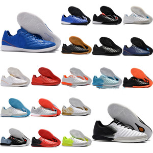 2019 mens soccer cleats TimpoX Finale IC original soccer shoes soft ground football boots cheap Tiempo Legend VII MD Indoor New Soccer Shoes     -