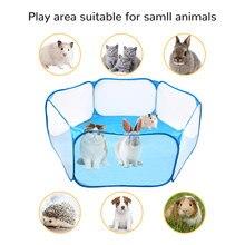 Animais pequenos quentes respirável dobrável cerca portátil pequena gaiola do animal de estimação tenda playpen para hamster filhote de cachorro gato coelho cobaia