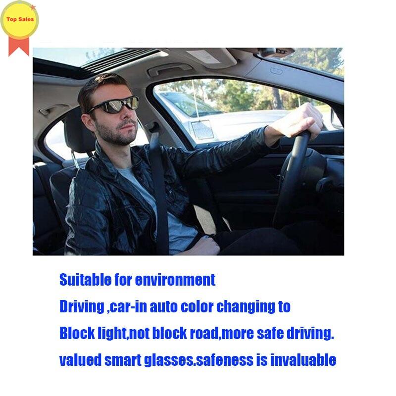 Original sem Bateria sem Botão Óculos de Condução dos Homens Óculos de Sol de Vídeo Mudança de Cor Livre Inteligente Óculos Inteligentes Mulher Mão