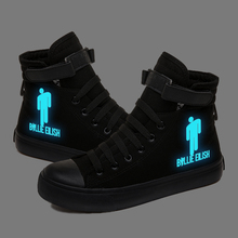 Billie Eilish Glow in the Dark Luminous Sneakers Canvas Shoes