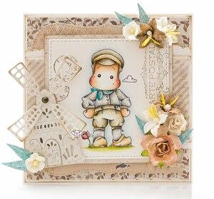 Image 3 - Piggy Craft do cięcia metalu umiera cięcia formy zamek wiatrak dom papier do notatnika craft nóż formy ostrze wykrojniki szablony umiera