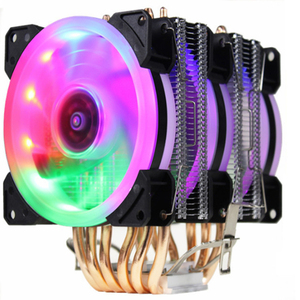 CPU cooler High quality 6 heat-pipes dual-tower cooling 9cm RGB fan LED fan support 3 fans 3PIN CPU Fan heat sink