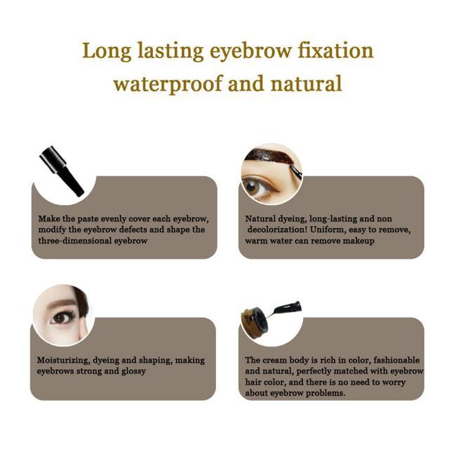 Waterproof Makeup Eye Brow Gel Coffee Black Brown Color Eyebrows Gel Paint Eyebrow Tint Mascara Kit Eye Brow Makeup Tools TSLM1 5