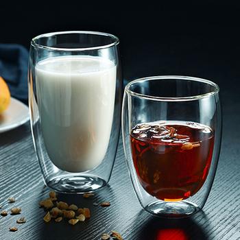 1Pc szklanka z podwójną ścianką przezroczysta herbata kawa kubek lód kufel na piwo odporny na ciepło izolowany szklany kubek kreatywny kubek na mleko sok tanie i dobre opinie BalmyDays Szkło Kubki do kawy Z brak Double Wall Lfgb Ce ue MU-G1107 Zaopatrzony Ekologiczne Double Wall Glass Cup Insulated Glass Mug