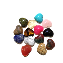 2019 New 10 Pieces Natural Stone Heart Shape Rose Quartz Cabochon No Hole Beads Pendants for Jewelry Making Supplies Loose