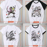 Neue Dämon Slayer Kimetsu keine Yaiba Tanjiro Kamado Tanjirou T-shirt cosplay Kamado Nezuko T shirt Mode Männer Frauen Tees