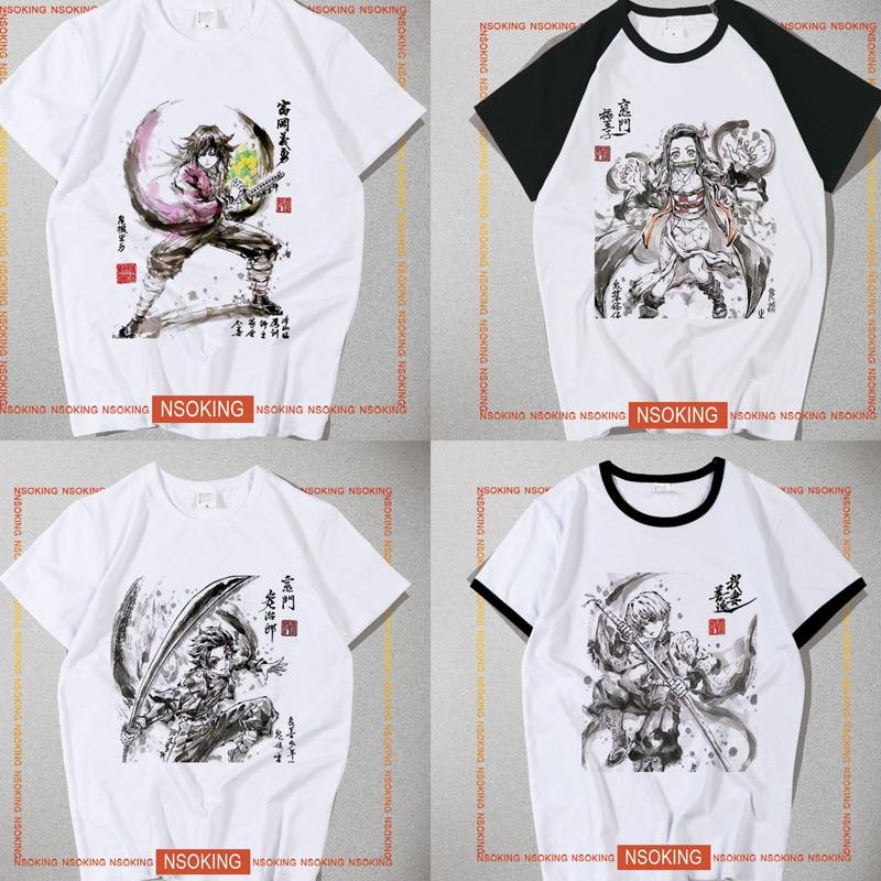New Demon Slayer Kimetsu No Yaiba Tanjiro Kamado Tanjirou  T-shirt Cosplay Kamado Nezuko  T Shirt Fashion Men Women Tees