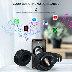 Image 2 - Cuffie da gioco Wireless Bluetooth V4.2 cuffie Stereo HD pieghevoli cuffie intelligenti con cancellazione del rumore supporto TF Card
