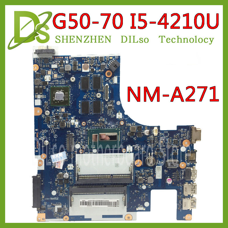 KEFU G50-70 For Lenovo G50-70 Z50-70 G50-70M Motherboard ACLU1/ACLU2 NM-A271 Rev1.0 I5-4210U With R5 Graphics Card Test