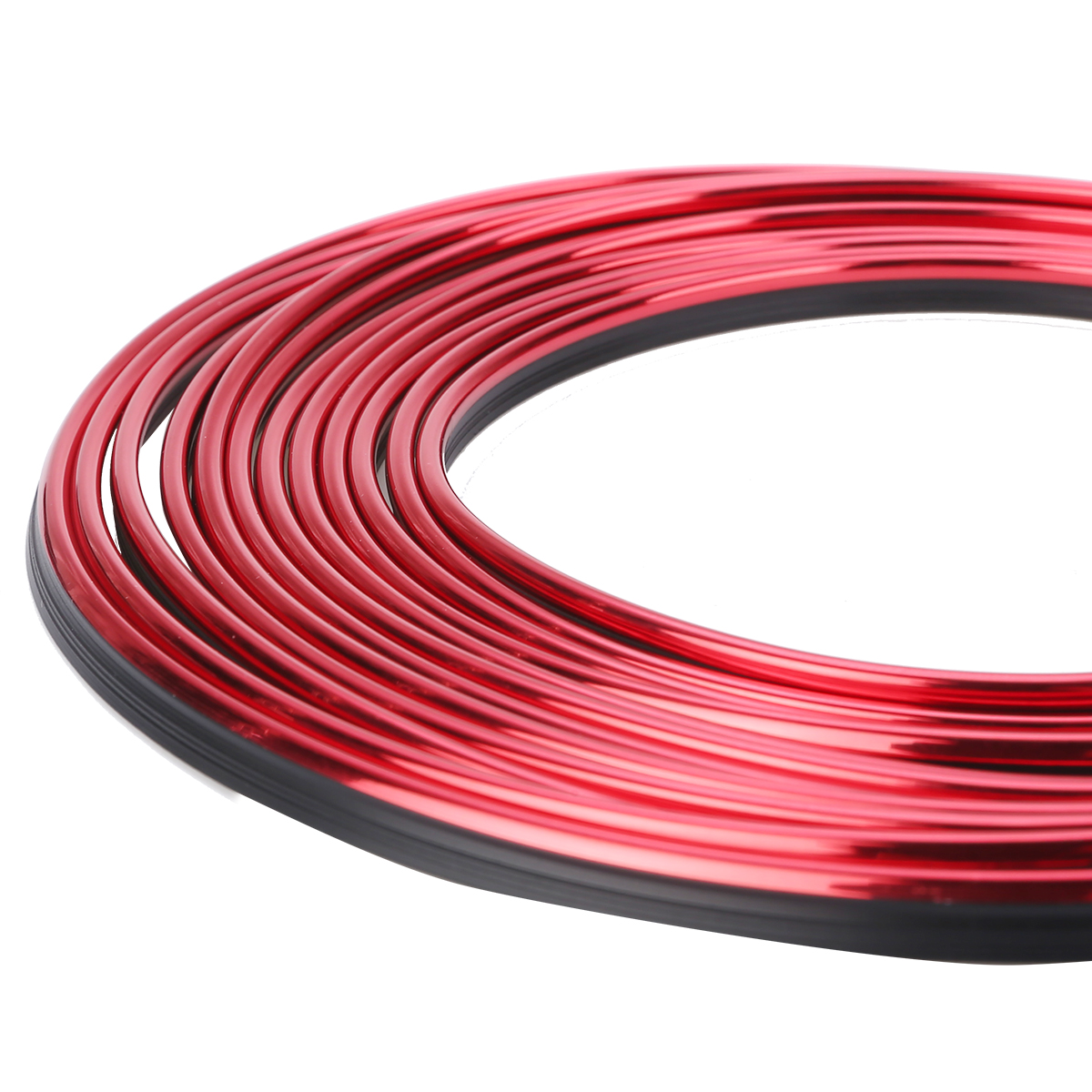 5M Red Car Styling Universal DIY Flexible Interior Moulding Trim Strips Strip Dashboard Decoration Car Accessories