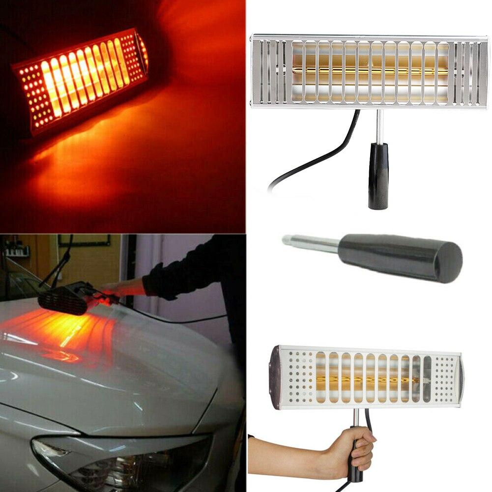 1000W pintura curado Filtro de lámpara Solar película coche cuerpo Spray secado infrarrojo calefacción Auto ola de luz portátil de mano de escape