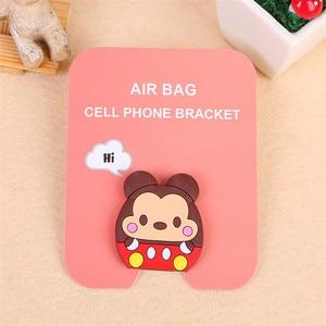 Image 3 - phone holder finger cute cartoon bracket for all mobile phones Universal mobile phone bracket airbag extension bracket and grif