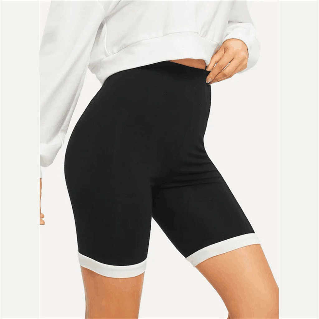 Women Yoga Skinny Sport Shorts Skinny Daily Gym Short Running Casual Elastic High Waist Solid Shorts Calzas Deportivas Mujer