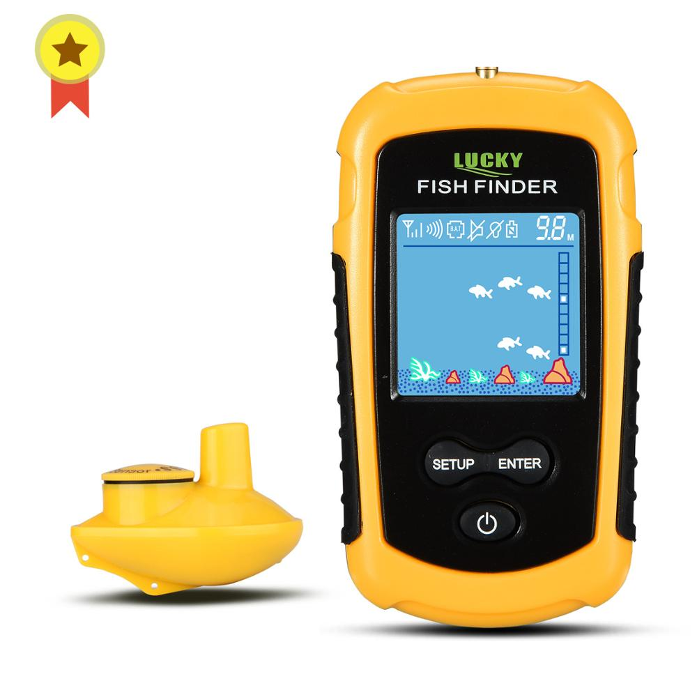 LUCKY FFCW1108-1& FFW1108-1 Portable echo sounder Sonar Depth Ocean River Wireless Fish Finder