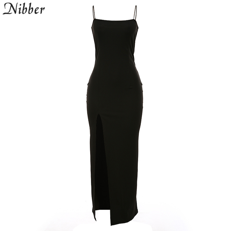 Nibber red black New year christmas party long dresses women 2020 spring new bodycon lace up stretch Slim Soft midi dress femme 7