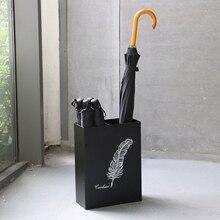 Железный Зонт Стенд Многофункциональный зонтик ведро с лотком для хранения воды Стенд можно повесить маленький футляр для зонта ведро