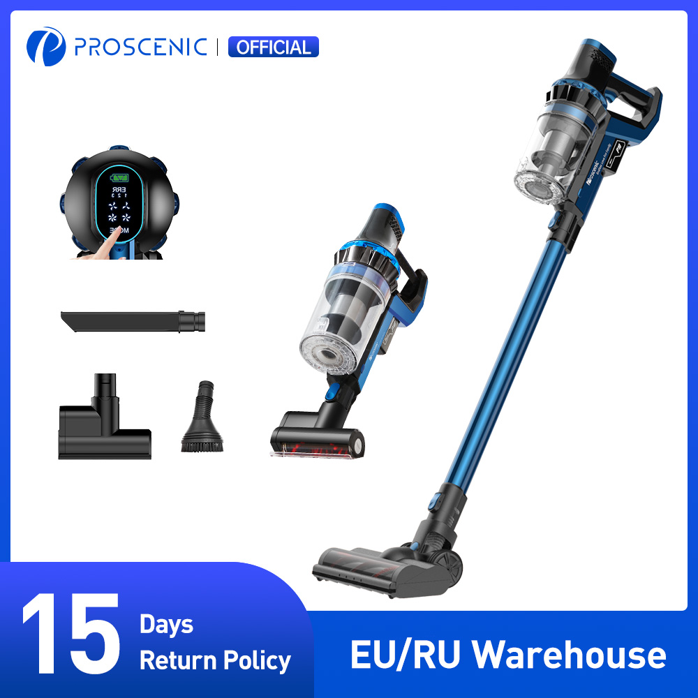 Proscenic P10 PRO Cordless Vacuum Cleaner, 23000Pa Powerful Suction, LED Touch Screen, wireless Handheld vacuum for home
