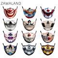 Маски Джокера клоуна для взрослых и детей моющаяся Тканевая маска для лица многоразовая защитная маска Защита от пыли для рта маска с 2 филь...