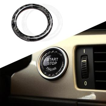 Metal Crystal Car Interior Sticker One-Key Engine Start Stop Ignition Push Button Decoration ring for BMW E90 E92 E93 image