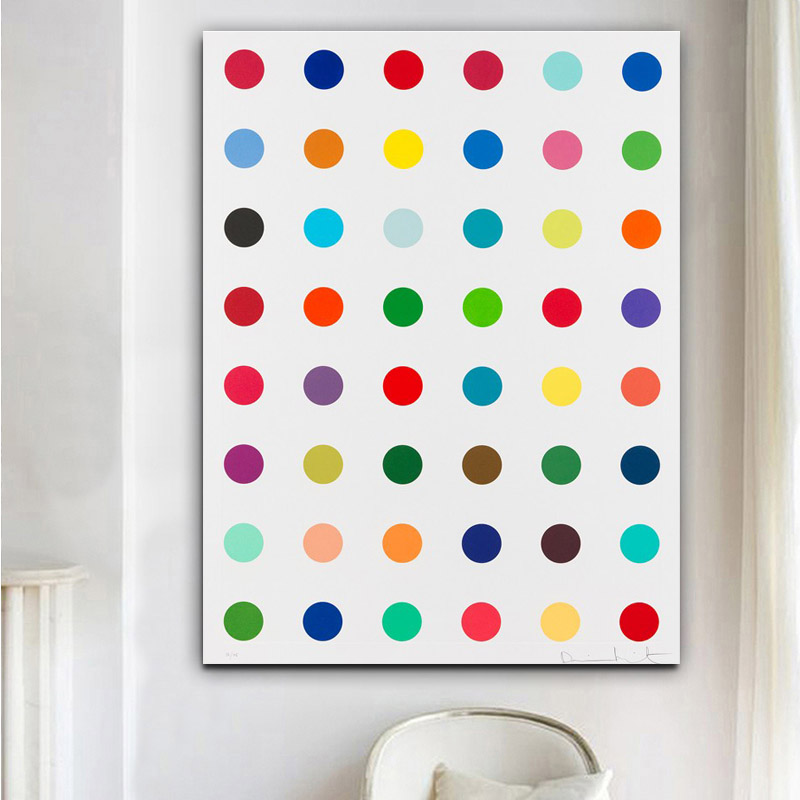 Damien Hirst Canvas Painting Dot Pictures Printed On Canvas Modern Abstract Art Butterfly Canvas Wall Art Decoration Paintings Print On Canvas Art Printwall Art Print Aliexpress