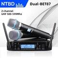 NTBD GLXD4 BETa87a Беспроводной микрофон beta87 2 Каналы UHF профессиональный микрофон для вечерние караоке церковь показать совещание