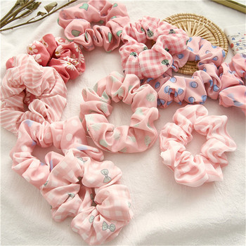Ruoshui Woman Pink Style Hair Ties Accessories Elastic Band Ornaments Rubber Headwear Fashion Rope