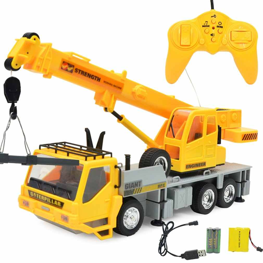 Anak Hadiah Remote Kontrol Derek Hobi Anak Angkat Konstruksi Teknik Model Mobil Mesin Menara Cable Pertambangan Mobil Tower Mainan