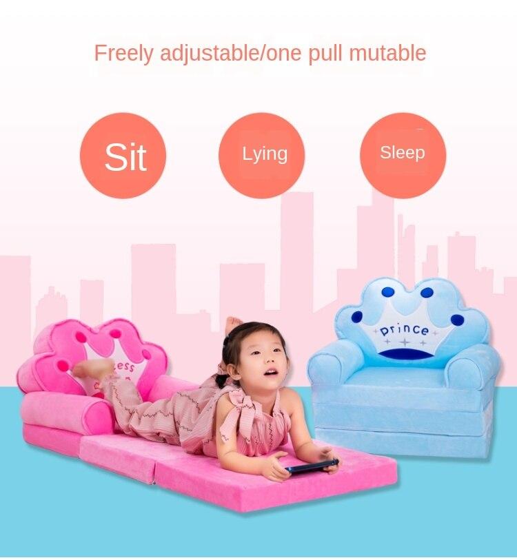 115 см детский диван, модное мультяшное сиденье с короной, детское кресло, чехол для малыша, детский диван, складной с наполнителем, мини-диван 2