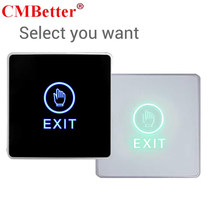 Bouton de sortie de porte bouton poussoir de libération tactile rétro-éclairage bleu sans contact infrarouge pour système de contrôle d'accès c serrure de porte électronique