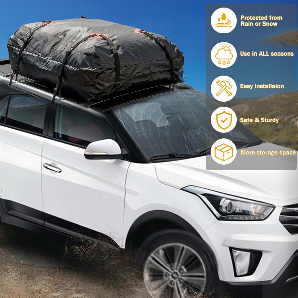 Universal Heavy Duty Waterproof Car Roof Top Rack Carrier Cargo Bag Luggage Storage Bag UV Protection Car Roof Rack for SUV Van