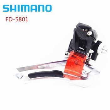 цена Shimano 105 FD-5801 2x11 Speed 22s Front Derailleur Braze On Upgrade Forupgrade For shimano 5800 Original MTB Bike Accessories онлайн в 2017 году