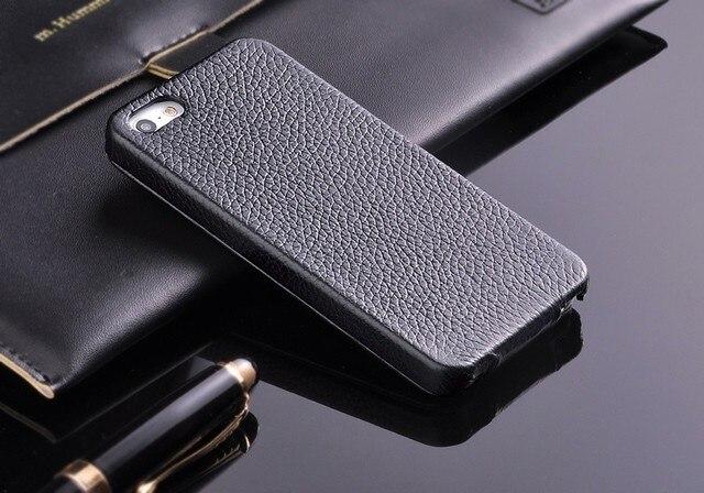 100% Chính Hãng Đứng Da Flip Cho iPhone 5 5S SE Vải Stria Da Thật Chất Lượng Cao Với Giá Rẻ tấm Bảo Vệ Màn Hình