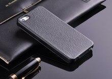 حافظة لهاتف آيفون 5 5s SE Litchi Stria من الجلد الأصلي 100% عالية الجودة مع واقي شاشة مجاني