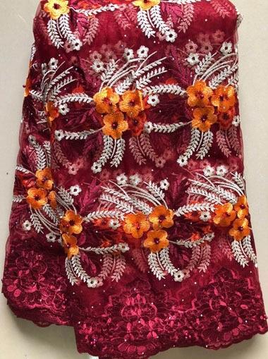 2020 африканская сетчатая кружевная ткань, Высококачественная элегантная нигерийская Свадебная Кружевная Ткань 5 ярдов, французское Тюлевое кружево с камнями HLL4587 HLL5092