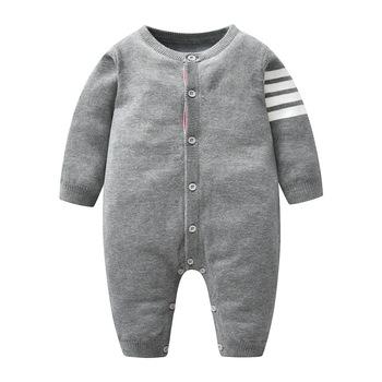 Wiosna jesień Baby Boy Romper dzianiny noworodka ubrania dla niemowląt kombinezon dla malucha dzieci bawełna z długim rękawem noworodków śpioszki niemowlęce tanie i dobre opinie COTTON CN (pochodzenie) Mężczyzna W wieku 0-6m 7-12m 13-24m W paski O-neck Pojedyncze piersi Pełna HR0024 Pasuje prawda na wymiar weź swój normalny rozmiar