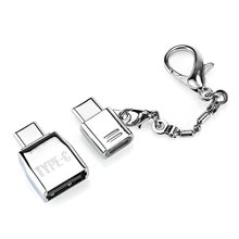 Type-C to Type-C OTG Adapter Converter USB to Type-C Adapter 2 in 1 Set For Laptop Tablet OTG Converter With Key Chain