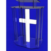 Экологичная прозрачная акриловая Трибуна стеклянная подставка для церковного оргстекла Акриловая Оргстекло
