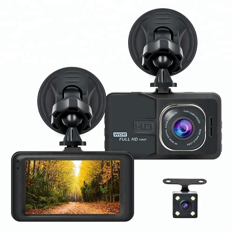 Dual LensFull HD 1080P Digital <font><b>Camera</b></font> 170 Degrees New Angle 3.0 <font><b>Inch</b></font> Portable <font><b>Car</b></font> <font><b>DVR</b></font> <font><b>Camera</b></font> T626 <font><b>DVR</b></font> <font><b>Camera</b></font> Driving <font><b>Car</b></font> Detecto image