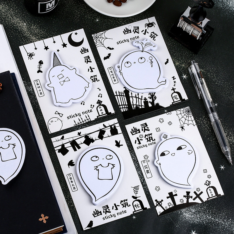 Ghost Sticky Note Funny Ghost Memo Pads For Halloween Sticky Notes