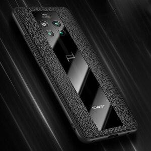 Image 1 - אופנה מקרה עבור Huawei Mate 20 RS פורשה עיצוב זכוכית מראה מקרה הגנת כיסוי מעטפת עבור Huawei Mate RS פורשה עיצוב