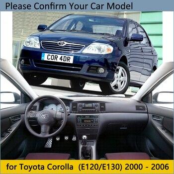 Pokrywa deski rozdzielczej podkładka ochronna dla Toyota Corolla E120 E130 2000 2001 2002 2003 2004 2005 2006 deska rozdzielcza osłona przeciwsłoneczna samochodu
