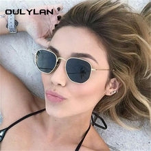 Oulylan Fashion Polygon Sunglasses Women Men Brand Designer Small Vintage Sun Gl