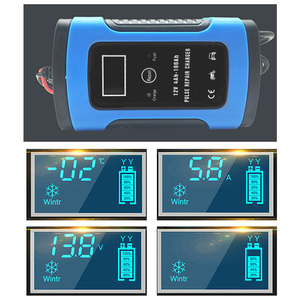 Image 2 - 12V 6A LCD Smart Fast Car Battery Charger for Auto Motorcycle Lead Acid AGM GEL Batteries Intelligent Charging 12 V Volt 6 A AMP